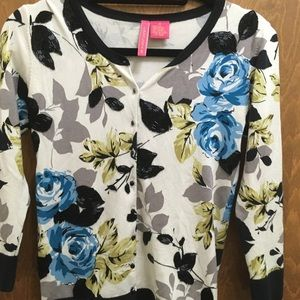 Charlotte beaded cardigan floral Anthropologie